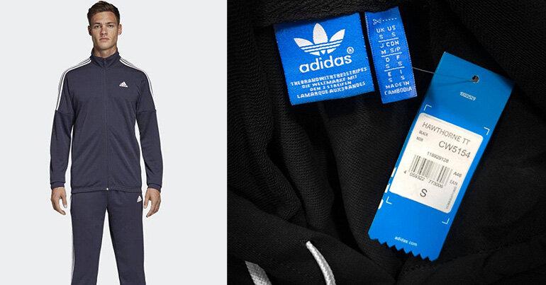 nhận biết quần áo thể thao Adidas nam chính hãng