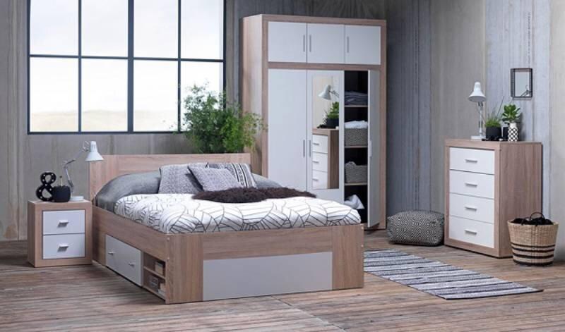 Giường có thiết kế hiện đại, màu sắc trang nhã