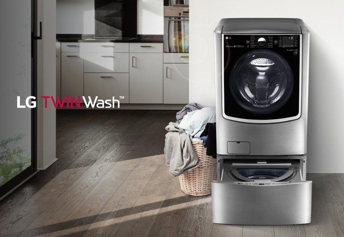 2. Máy giặt Mini Twin Wash LG T2735NWLV, 3.5kg LG T2735NWLV - Dẫn đầu cách mạng về máy giặt