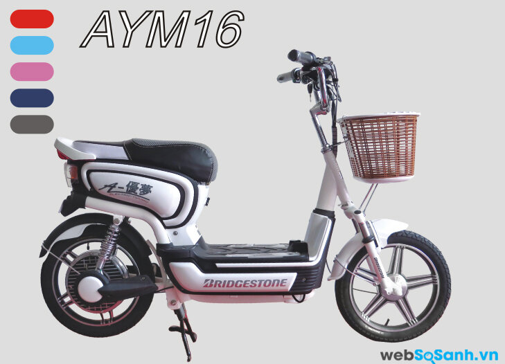 Bridgestone AYM 16 có 5 màu sắc đa dạng cho người dùng chọn lựa