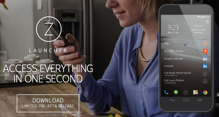Z Launcher là kết quả quá trình nghiên cứu thói quen của người dùng smartphone do Nokia thực hiện. Ảnh: BGR.