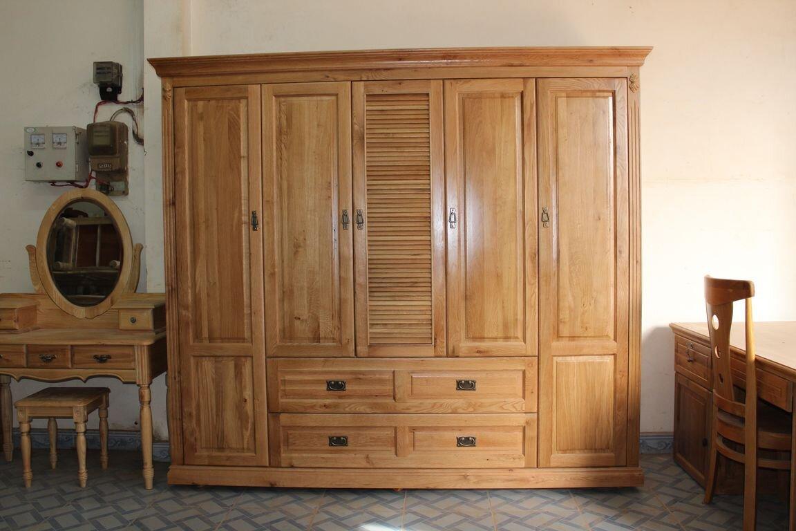 Tủ quần áo gỗ sồi có mức giá phải chăng, dễ tiếp cận