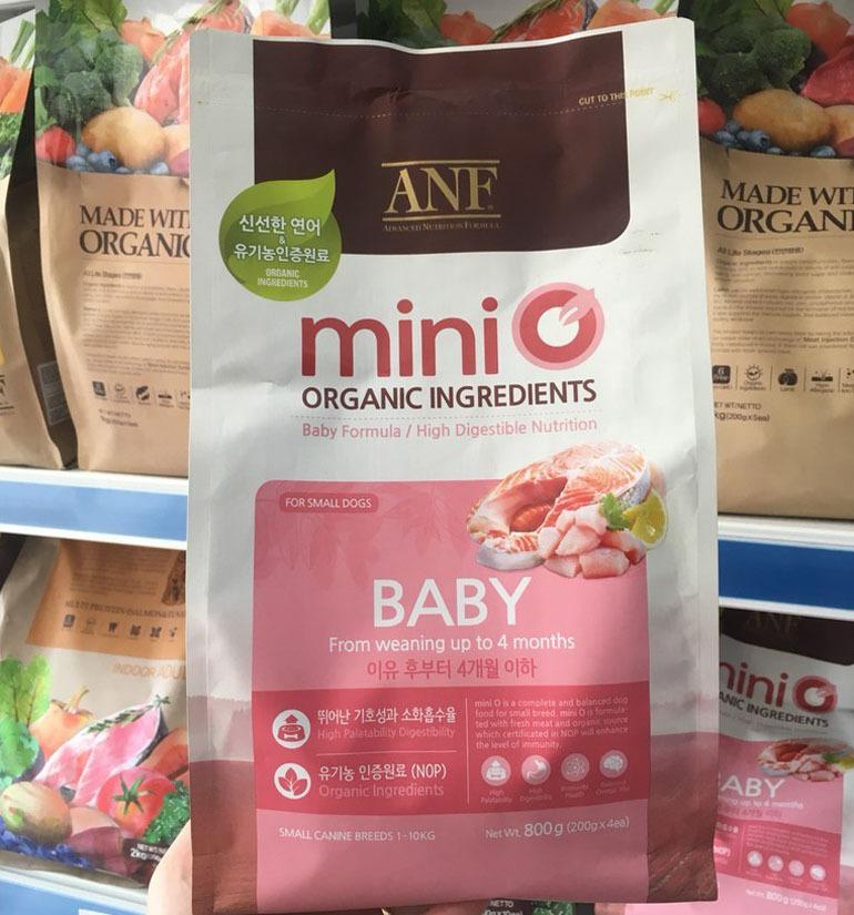 Thức ăn cho chó con cỡ nhỏ ANF MiniO Organic Ingredients
