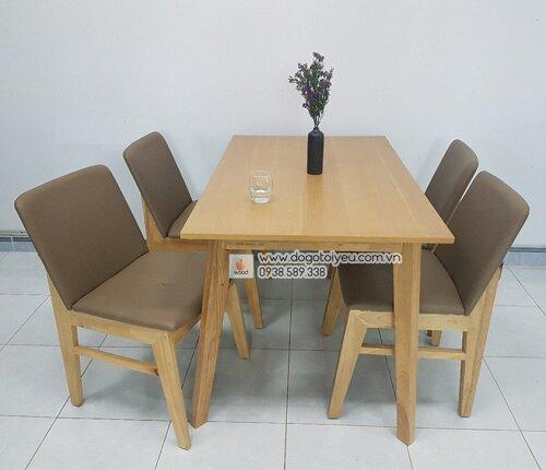 bộ bàn ăn ghế gỗ 4 màu