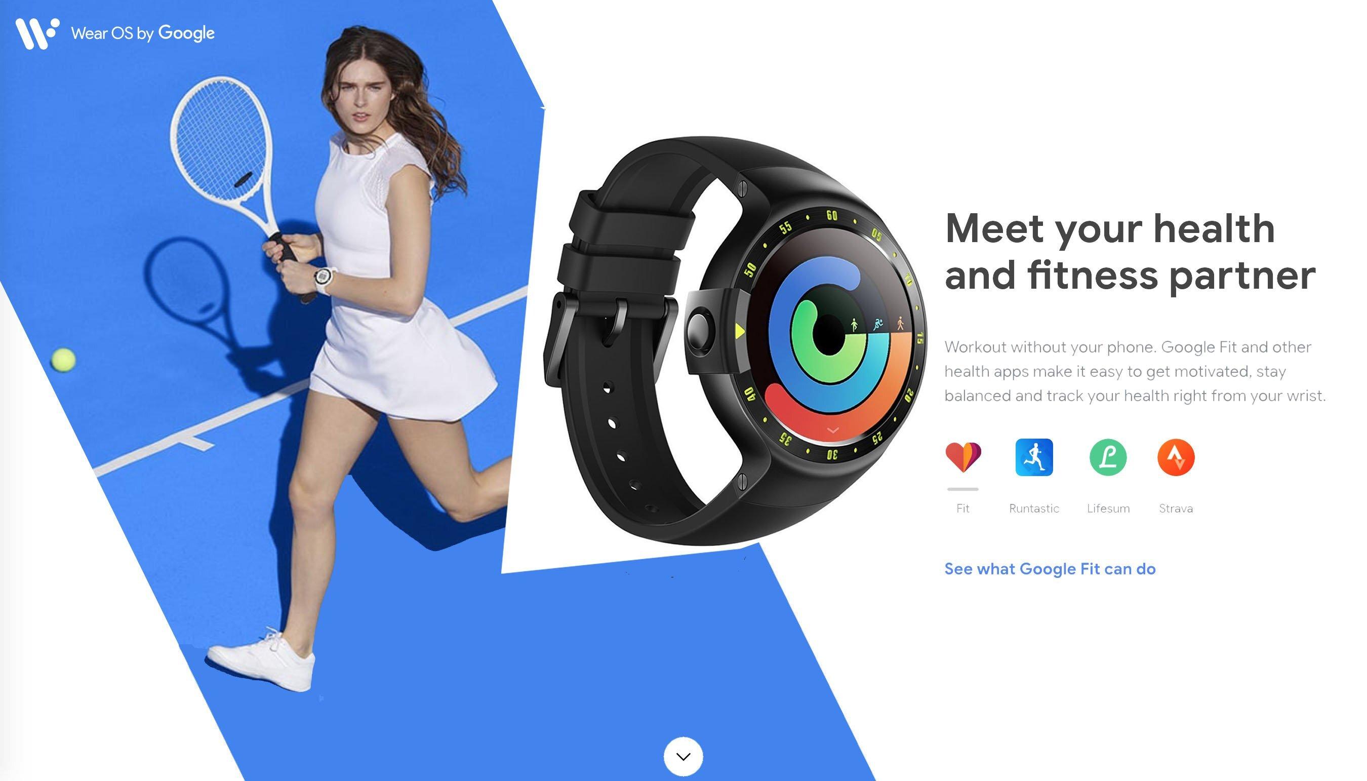 Mẫu đồng hồ thông minh cho nữ Ticwatch S