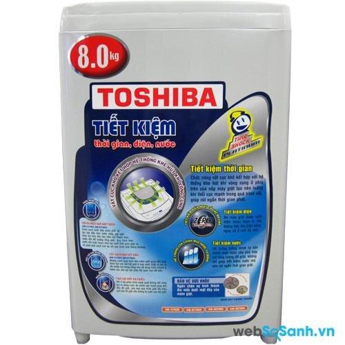 Máy giặt lồng đứng Toshiba được người tiêu dùng khá chuộng