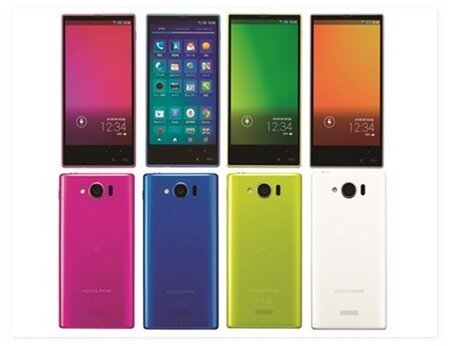 Aquos mini SHL24 là smartphone đầu tiên được trang bị màn hình công nghệ IGZO