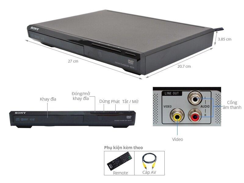 Đầu đĩa DVD SONY DVP-SR370/BC SP6