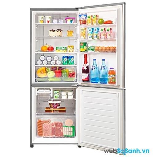 Tủ lạnh Panasonic NR-B19M1 tiện lợi với ngăn mát trên