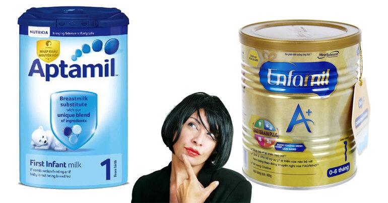 chọn mua sữa Enfamil hay sữa Aptamil