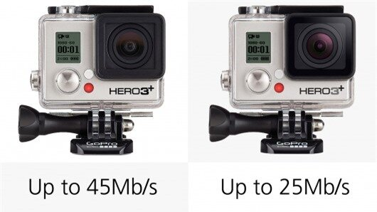 The various GoPro cameras offer differing high bitrate video recording (H.264), from 25 Mb...
