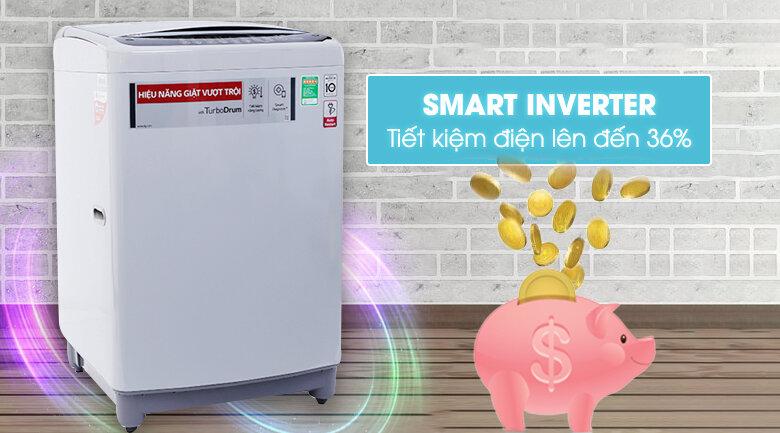 Máy giặt LG Inverter T2395VSPM sở hữu thiết kế nhỏ gọn, tiết kiệm điện