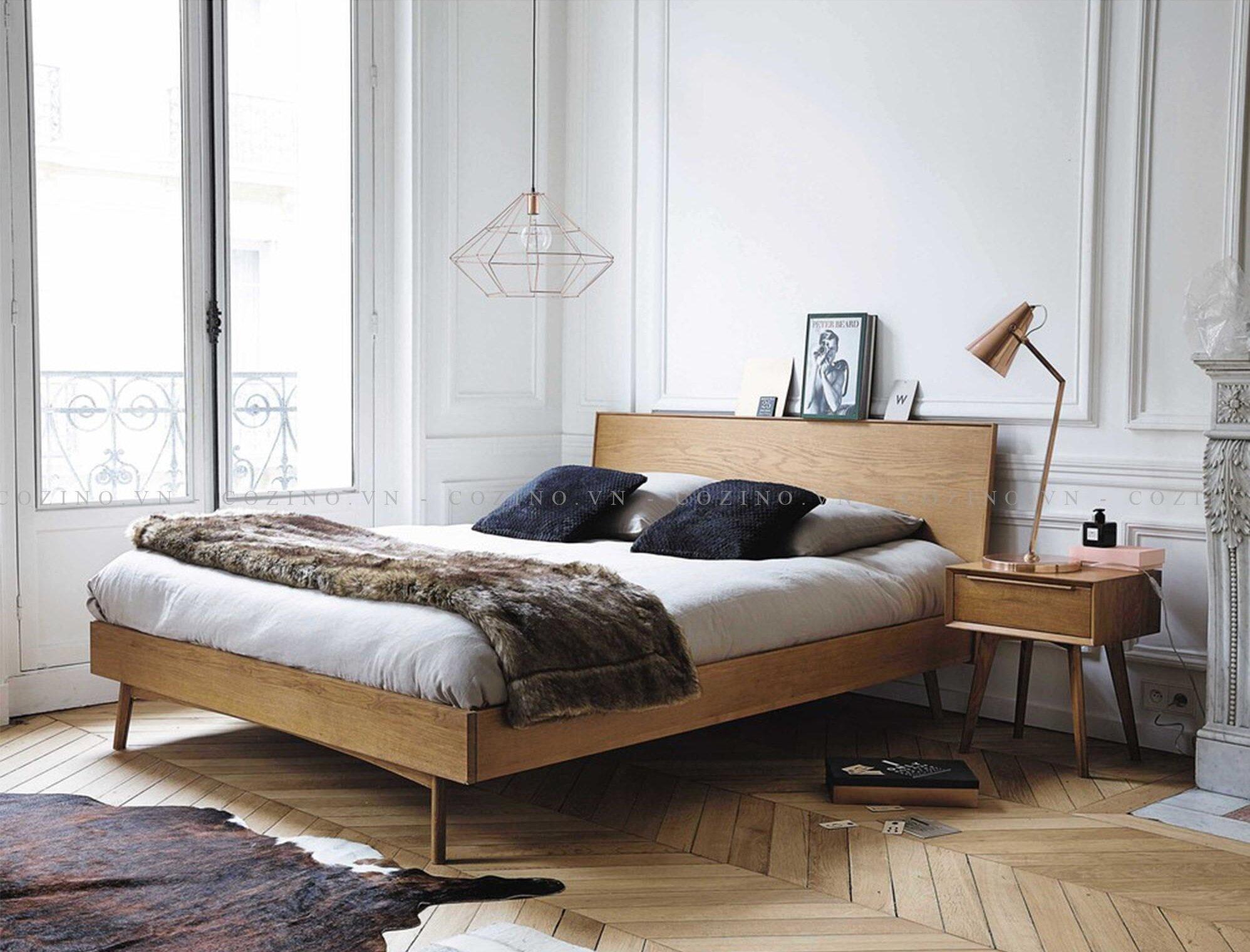 Giường Cozino với phong cách thiết kế tối giản nhưng sang trọng và rất hiện đại