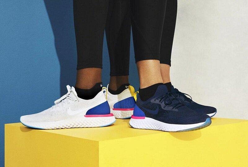 Mẫu giày chạy bộ Nike Epic React Flyknit có 2 thiết kế dành cho cả nam và nữ.