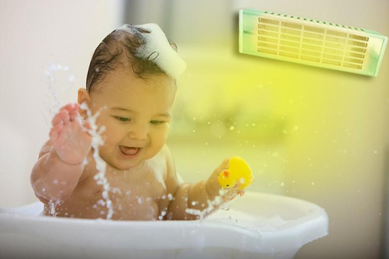 Đèn sưởi tắm cho bé tiết kiệm điện năng