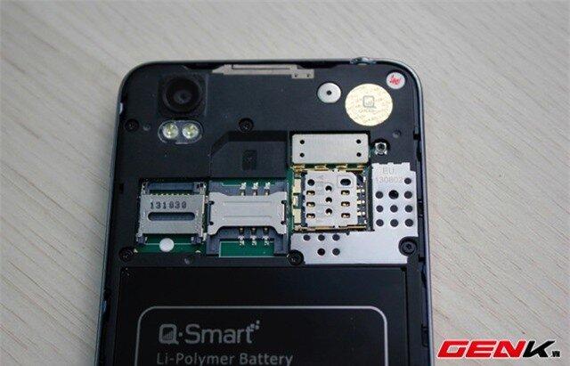 Máy hỗ trợ SIM thường lẫn micro SIM.