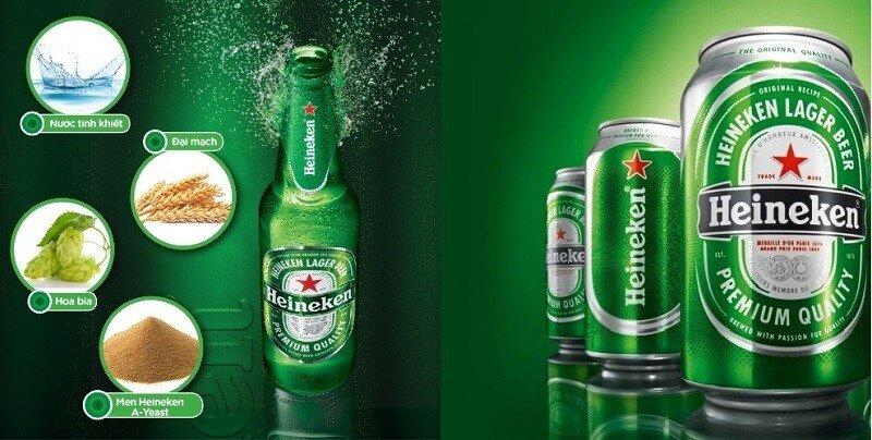 Bia Heineken rất được ưa chuộng khắp mọi nơi trên thế giới