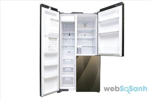 Tủ lạnh Hitachi side by side 3 cánh R-M700AGPGV4X DIA 584 lít