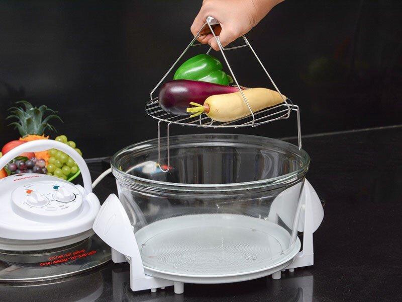 Lò nướng thủy tinh Sanaky với thiết kế sang trọng