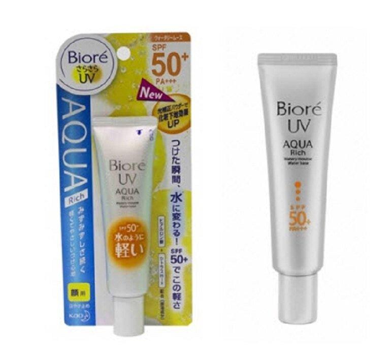 Kem chống nắng Biore UV Aqua rich Watery Mousse Base SPF 50+ PA+++