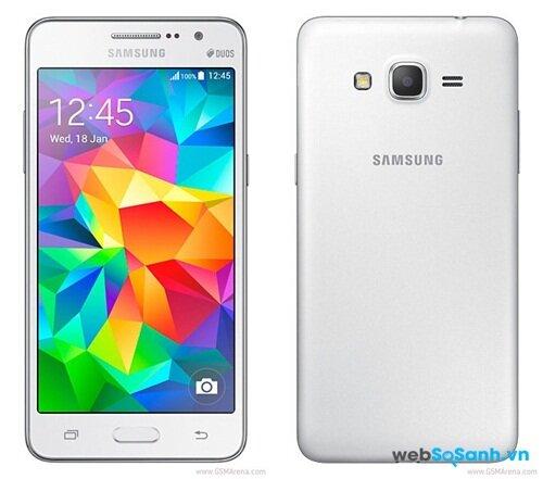 Samsung Galaxy Grand Prime mang thiết kế truyền thống của dòng Galaxy Nguồn Internet