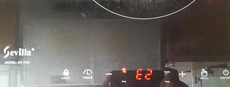 Bếp hồng ngoại báo lỗi E2 là gì?