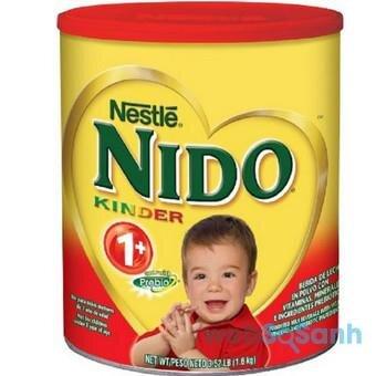 Hướng dẫn cách pha sữa bột Nido nắp đỏ dành cho bé trên 1 tuổi