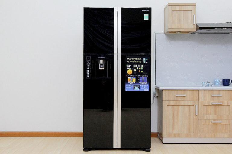 Tủ lạnh Hitachi dung tích 540l với thiết kế sang trọng.