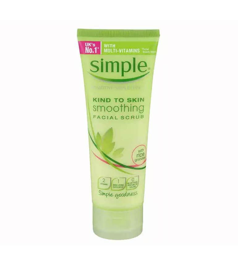 Sữa rửa mặt không bọt Simple Kind To Skin Smoothing Facial Scrub