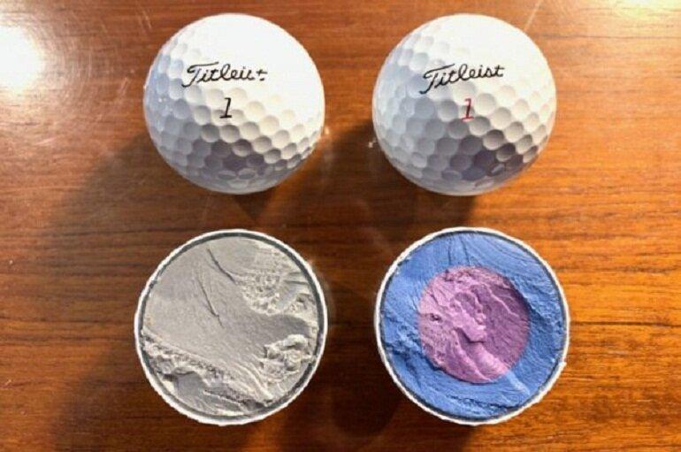 Quả bóng golf Pro V1 có cấu tạo 3 lớp