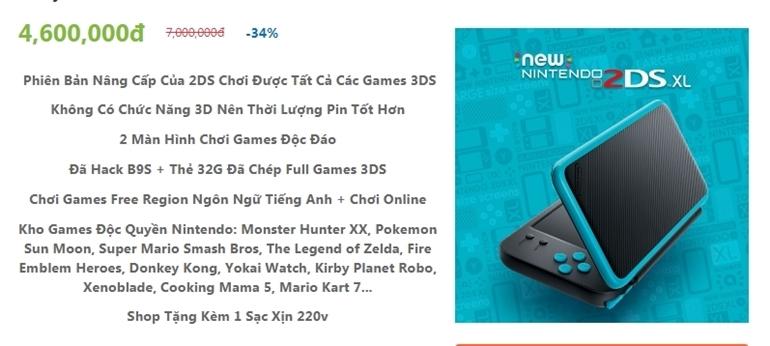 top 3 máy choi game cầm tay ngon nhất 2018