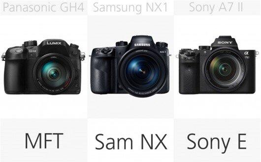High-end mirrorless camera lens mount comparison (row 2)