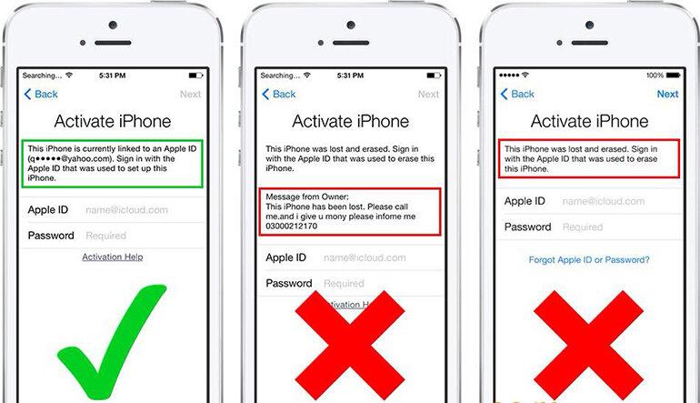 iPhone dính iCloud có sửa được không?