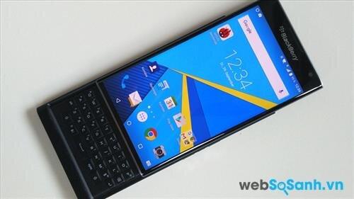 BackBerry Priv có màn hình lớn và độ phân giải cao hơn của iPhone 6s