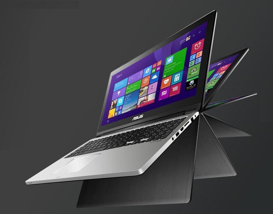 Laptop lai máy tính bảng Asus
