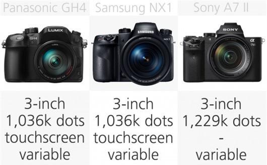 High-end mirrorless camera monitor comparison (row 2)