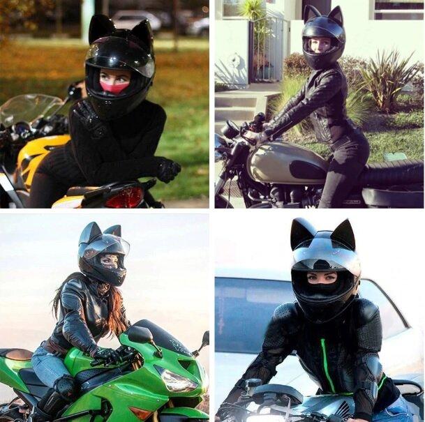 Mũ fullface tai mèo bảo vệ an toàn cho bạn trong mỗi hành trình
