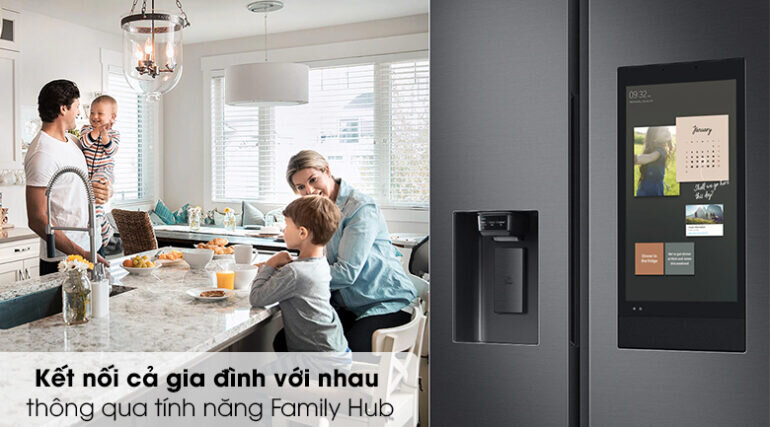 Tủ lạnh Samsung Family Hub 641L RS64T5F01B4