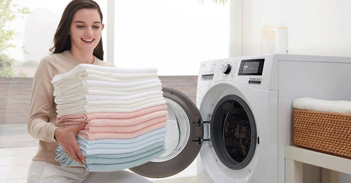 Máy giặt LG FC1475N5W2 thiết kế hiện đại, nhỏ gọn