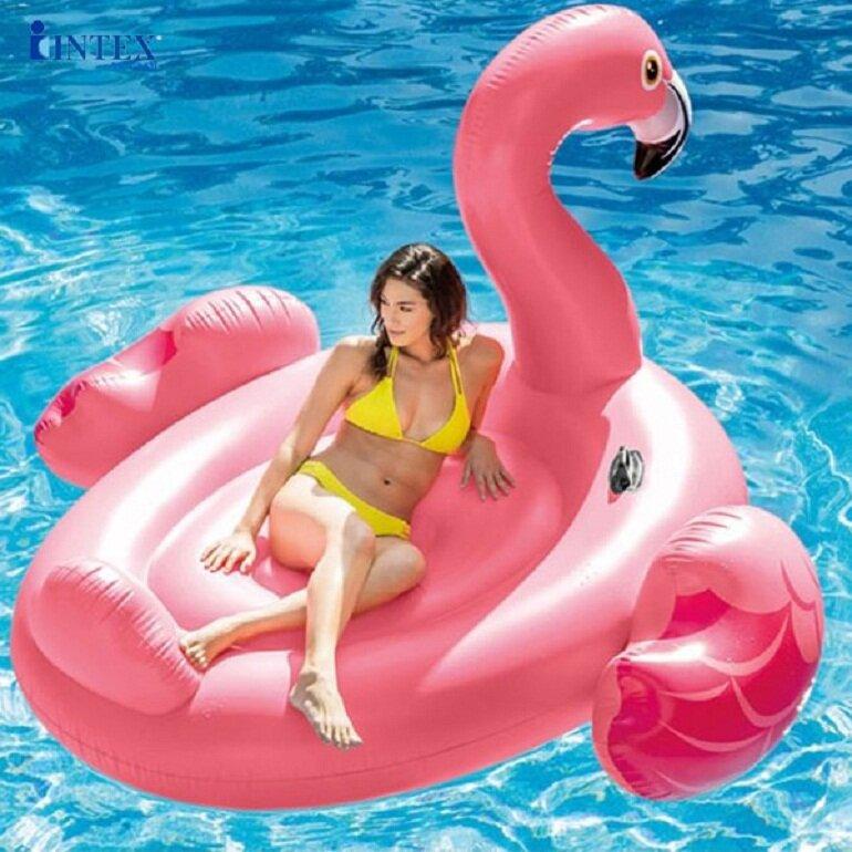 Phao bơi biển hồng hạc khổng lồ Intex 57288