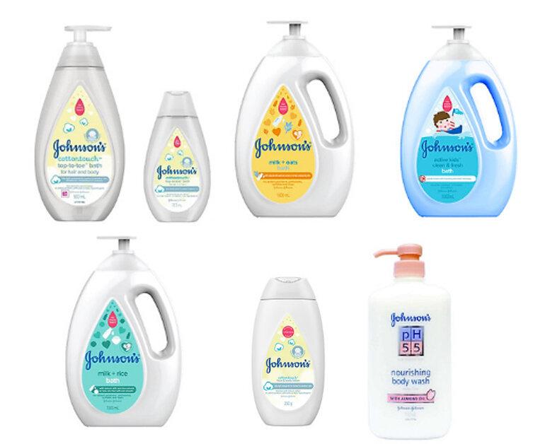 Các loại sữa tắm em bé Johnson Baby