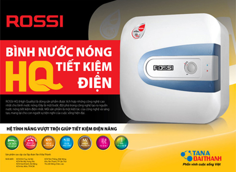Bình nước nóng Rossi tiết kiệm điện