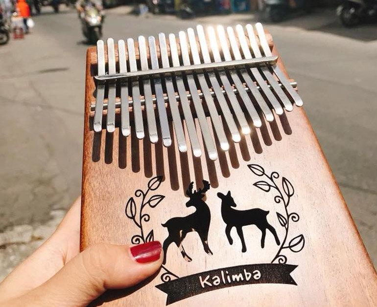Đàn kalimba 17 nốt / phím làm bằng gỗ Koa