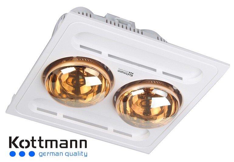 Đèn sưởi Kottmann 2 bóng âm trần K9S