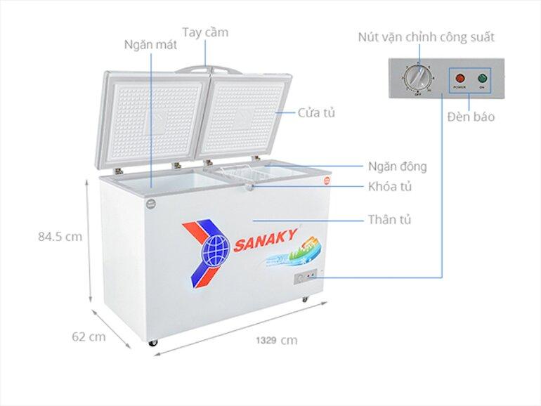 Tủ đông Sanaky 400 lít VH-4099W1
