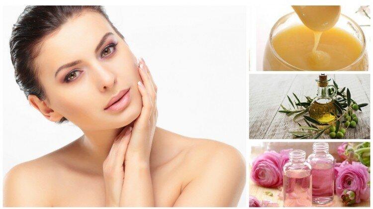 Mặt nạ sữa ong chúa kết hợp với dầu ăn và nước hoa hồng