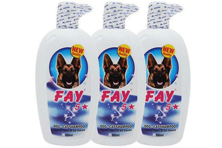 Sữa tắm trị viêm da cho chó Fay 5 sao