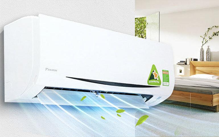 Điều hòa - Máy lạnh Daikin FTKC20PVMV 1 chiều thiết kế hiện đại trang bị công nghệ inverter V siêu tiết kiệm điện năng tiêu thụ