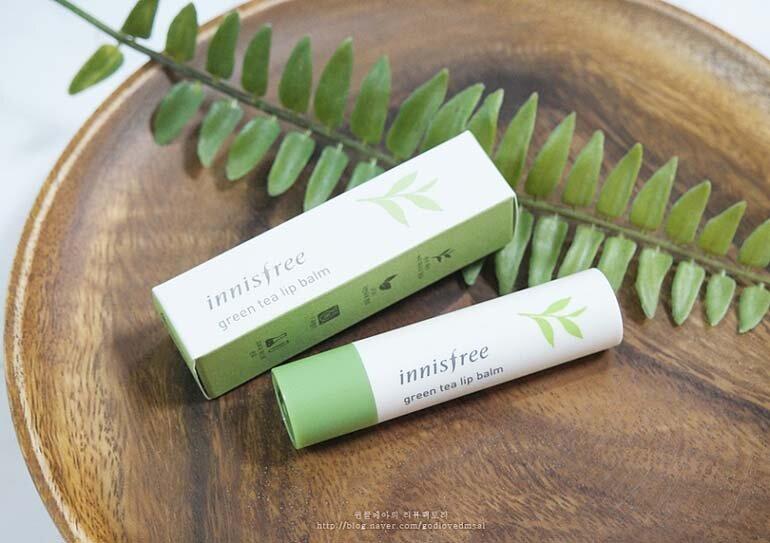 Son dưỡng Innisfree Green Tea Lip Balm trà xanh