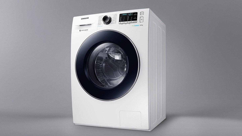 Máy giặt Samsung Inverter WW80J54E0BW/SV thiết kế nhỏ gọn và sang trọng